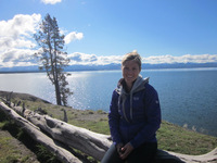 Kristin at Lake Yellowstone